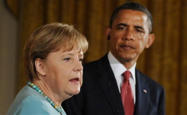 Angela Merkel dan Barrack Obama telegraph.co .uk  - Telepon Disadap Kenapa Angela Merkel Tidak Menggugat ?