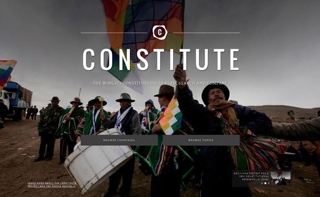 homepage constitute constituteproject.org  - Menghimpun Konstitusi Negara ala Constitute