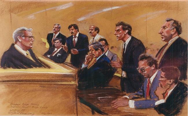lukisan suasana sidang di Amerika Serikat randallweiner.com  - Praktik Hukum Ibarat Membuat Karya Seni