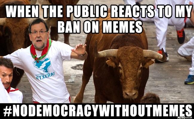 Meme Perdana Menteri Spanyol Mariano Rajoy metro.co .uk  - Percayalah, Tidak Ada Demokrasi Tanpa Meme