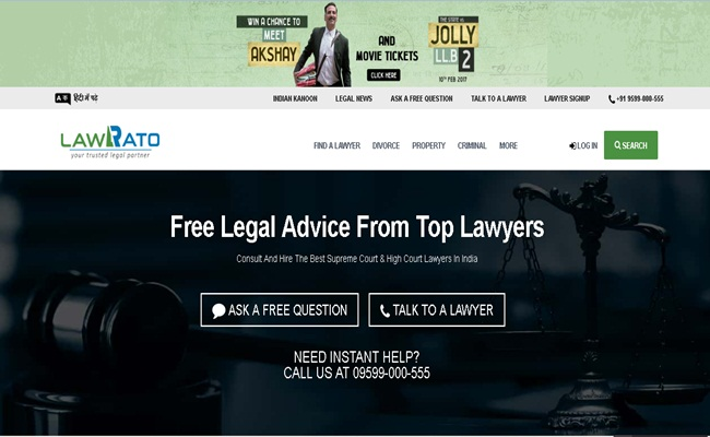LawRato startup legal tech di India yang melayani konsultasi hukum lawrato.com arsip - Geliat Legal Tech di India
