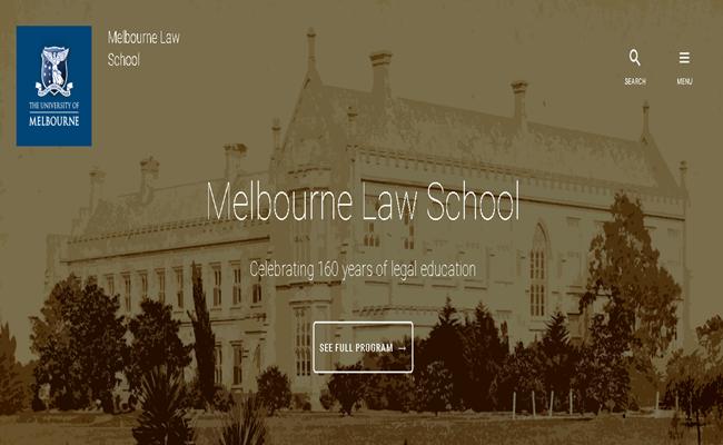 University of Melbourne School of Law law.unimelb.edu .au arsip - Perayaan Peringatan Berdirinya Fakultas Hukum Tertua di Australia